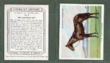 Tobacco cigarette cards Types of Horses 1939 set